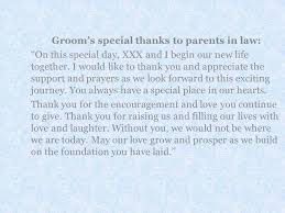 Card For Groom From Bride A Message From The Bride And Groom To Their Parents Everafterguide