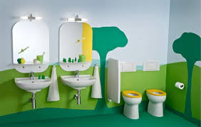 Childrens Bathroom Ideas Children U0027s Bathroom With A Extravagantly Playful And Vivid Theme