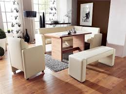 dining room modern dining room bench made of white leather with