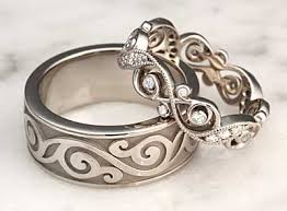 unique wedding bands for women unique wedding band set ideal weddings
