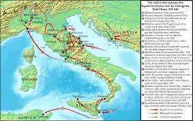 Map Of Ancient Italy by Map Of The Gothic War Illustration Ancient History Encyclopedia