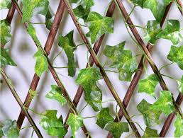 outdoor artificial trellis ivy living walls green leaves