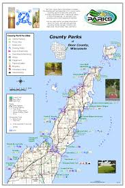 parks map door county park map