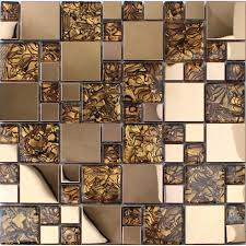 bathroom glass tile designs gold stainless steel backsplash for kitchen and bathroom metal and