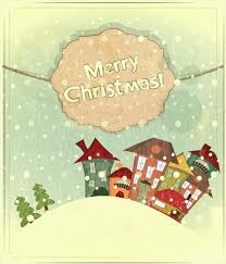 set of vintage merry christmas cards vector graphics 01 vector