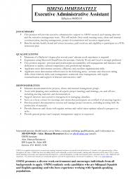 Administrative Assistant Duties For Resume Cover Letter Resume Templates For Executive Assistant Resume