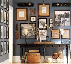 decorations interesting foyer decorating with dark blue wall