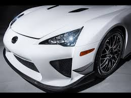 lexus supercar 2013 2013 lexus lfa nurburgring edition white front section