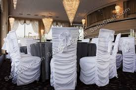 ruched chair covers where to rent chair covers in oak brook il chicago west suburbs