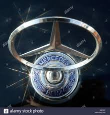 dpa a mercedes ornaments the of a car pictured at