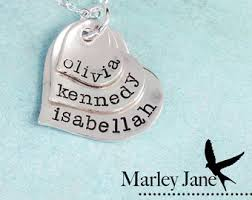 baby name necklaces baby name date necklace shiny matte customized sterling silver