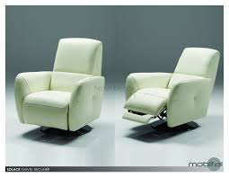 fresh ideas modern leather swivel recliner recliners find the