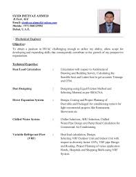 Hvac Technician Resume Samples by Syed Imtiyaz Ahmed Covering Letter And Cv