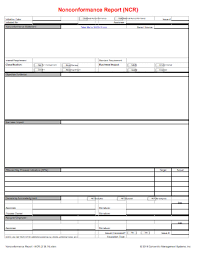 ncr report template writing a nonconformance ncr concentric global