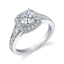 Vintage Style Cushion Cut Engagement Rings 139 Best Halo Engagement Rings Images On Pinterest Halo Diamond