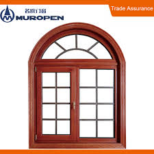 window arched window designs with wooden trim and panels for
