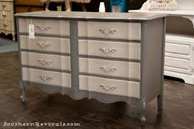 Bassett French Provincial Bedroom Furniture by For The Love Of Two Grays Two Toned Gray Dresser Southern Revivals