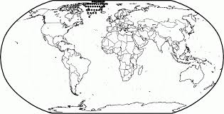coloring page of world map coloring home