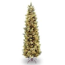 christmas tree with lights slim 7 5 green pine artificial christmas tree with 600 clear