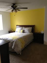 Yellow Accent Wall Basement Bedroom Love Our Yellow Accent Wall Home Projects