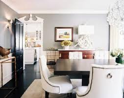 beautiful dining room design with gray walls paint color antique