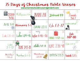 printable advent calendar sayings 25 days of christmas bible verses