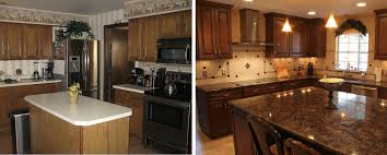 small kitchen remodel before and after photos mahogany l shape