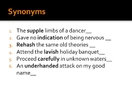 Synonyms Of Opulent 10th World Lit Vocabulary Unit 1 E Ppt Download