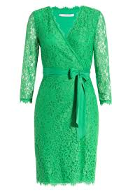 diane von furstenberg julianna lace wrap dress green in green lyst
