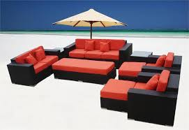 Wicker Style Outdoor Furniture by Palm Resort 9 Piece Euro Style Wicker Sofa Sectional Las Vegas