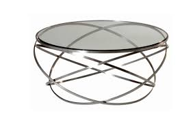 Round Glass Coffee Table by