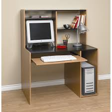 Walmart Desk With Hutch Computer Desk With Hutch Black And Oak Walmart