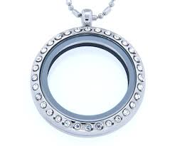 Charms For Origami Owl Lockets - necklace floating charm locket with bamboo chain
