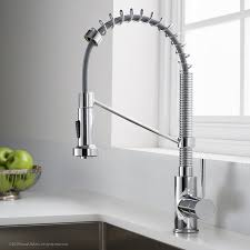 Pull Out Kitchen Faucets Kraus Bolden Series Single Handle Pull Out Kitchen Faucet