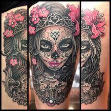 cute skull tattoos cute sugar skull day of the dead tattoo