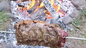 Cooking Over Fire Pit Grill - open fire bbq roast beef with the bbq pit boys youtube