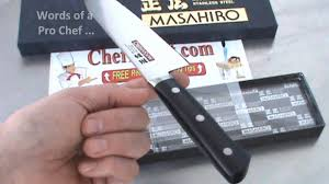 Kitchen Knives Reviews Masahiro Knife Review Youtube