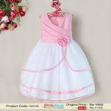 fashionable pink polyster baby dress designer princess party