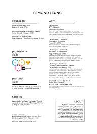 User Experience Designer Resume Resume U2014 Esmond Leung