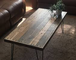 Rustic Wood And Metal Coffee Table Pallet Coffee Table Etsy
