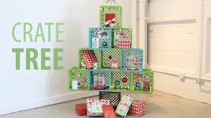 milk crate shelves milk crate christmas tree youtube