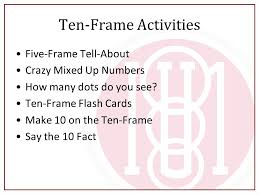 five frame making sense of math early number concepts amy lewis math