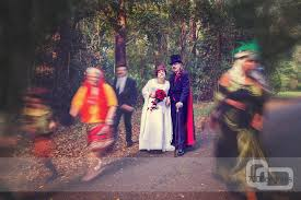 the heritage halloween wedding filmed by brisbane photography
