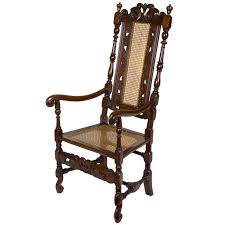 carved beech william and mary caned armchair flemish or english