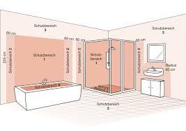 leuchten für badezimmer die schutzbereiche im bad leuchten sicher installieren le