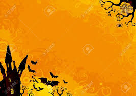 halloween background halloween orange background with many flying