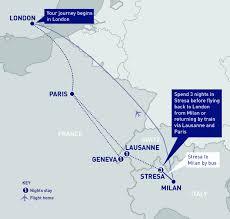 Italy Train Map Lake Maggiore Via The Alps