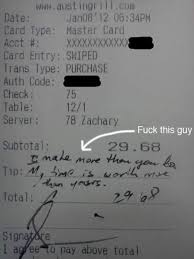 Funny Server Memes - 12 absolutely hilarious receipt tips funny tips waiter tips oddee
