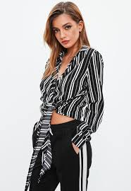 black and white blouses blouses floral satin chiffon blouses for missguided
