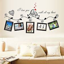 Birds Frames English Letters Wall Decal PVC Home Sticker House
